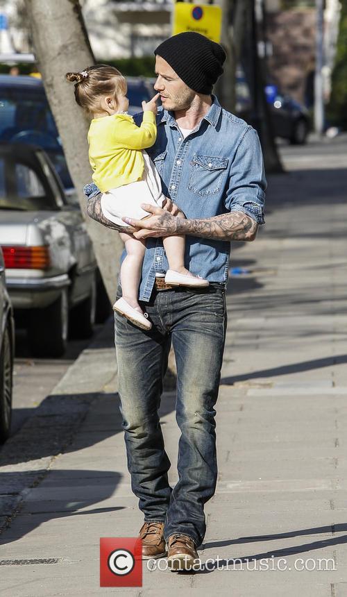 David Beckham and Harper Beckham 5
