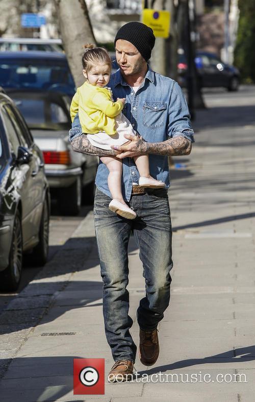 David Beckham and Harper Beckham 6