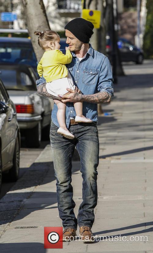 David Beckham and Harper Beckham 10