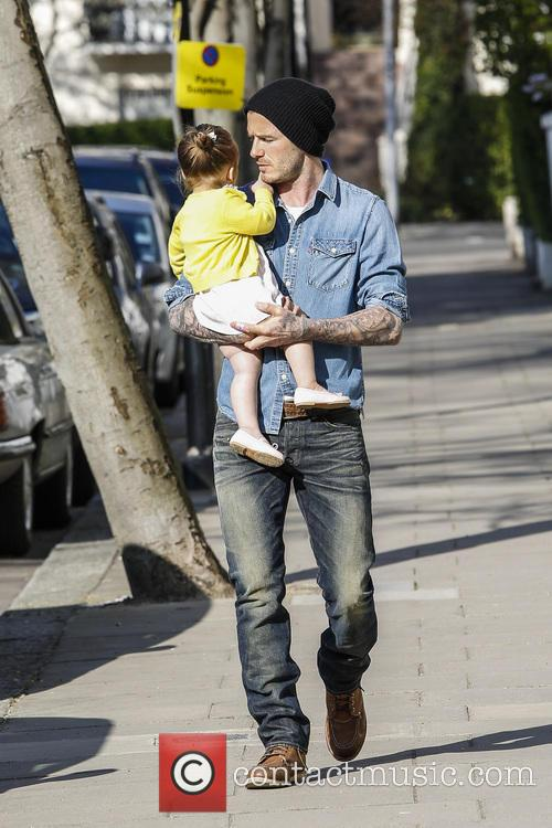David Beckham and Harper Beckham 11