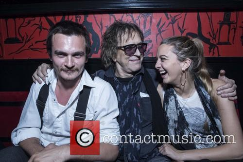 Rupert Friend, Mick Rock and Nathalie Rock