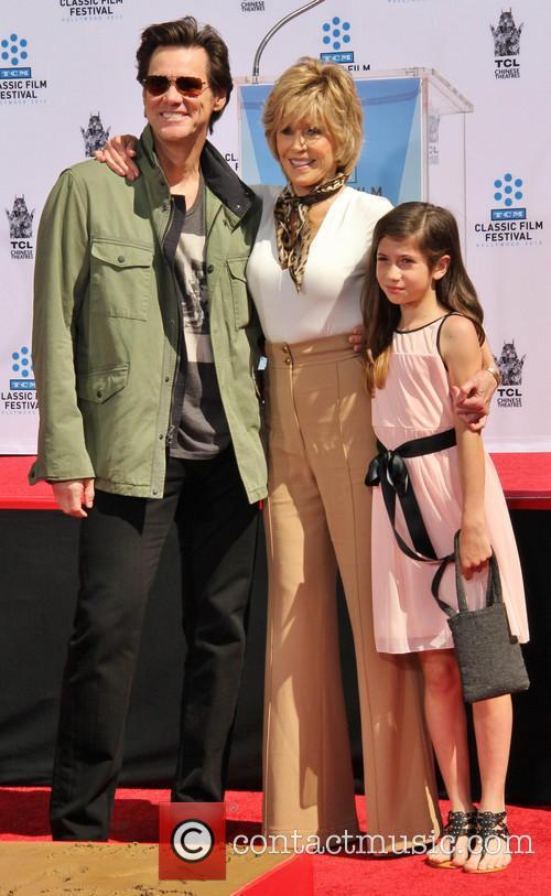 Jim Carrey, Jane Fonda and Viva Vadim