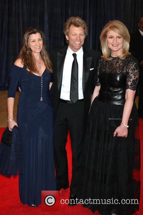 Jon Bon Jovi, Dorothea Bon Jovi and Arianna Huffington