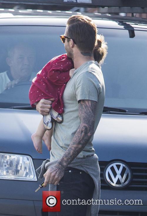 David Beckham and Harper Beckham 2