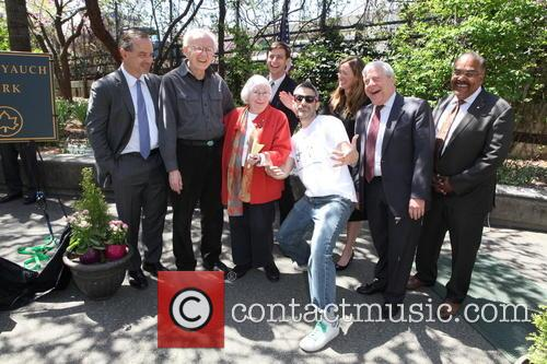 Neol Yauch, Frances Yauch, Stephen Levin, Adam Horovitz, Rachael Horovitz, Marty Markowitz and Kevin Jeffrey