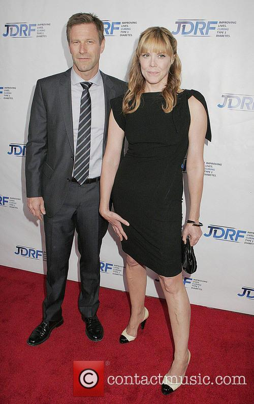 Aaron Eckhart and Mary Mccormack