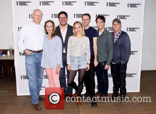 David Morse, Lisa Emery, Rich Sommer, Sarah Goldberg, Christopher Denham, Steven Levenson and Scott Ellis 1