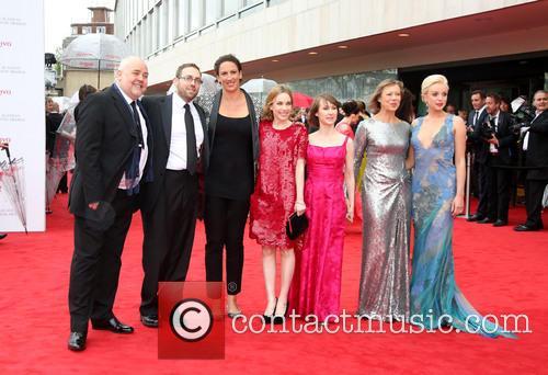 Cliff Parisi, Ben Caplan, Miranda Hart, Laura Main, Bryony Hannah and Helen George