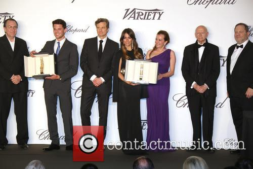 Jeremy Irvine, Colin Firth, Blanca Suarez, Lynne Ramsay, Gilles Jacob and Harvey Weinstein