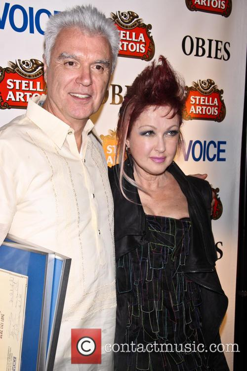 David Byrne and Cyndi Lauper