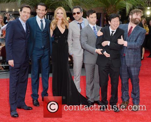 Ed Helms, Bradley Cooper, Heather Graham, Todd Phillips, Justin Bartha, Ken Jeong and Zach Galifianakis 2