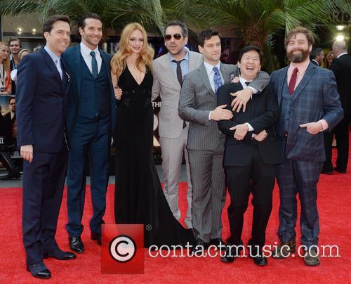 Ed Helms, Bradley Cooper, Heather Graham, Todd Phillips, Justin Bartha, Ken Jeong and Zach Galifianakis 3
