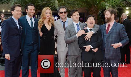 Ed Helms, Bradley Cooper, Heather Graham, Todd Phillips, Justin Bartha, Ken Jeong and Zach Galifianakis 7