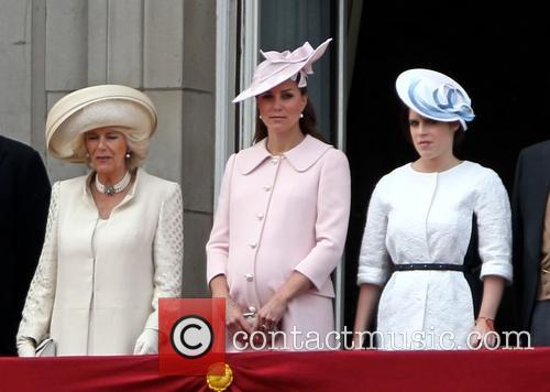 Catherine, Duchess Of Cambridge, Camilla, Duchess Of Cornwall and Princess Eugenie Of York