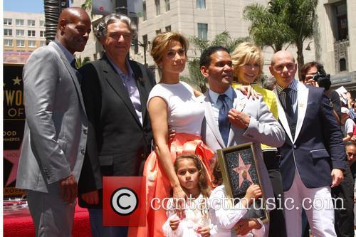 Max Anthony, Emme Anthony, Jennifer Lopez, Pitbul, Benny Medina, Jane Fonda and Keenan Ivory Wayans