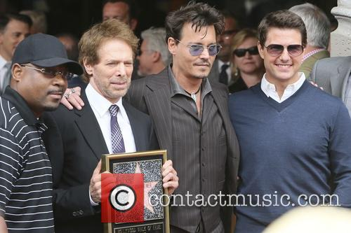 Martin Lawrence, Jerry Bruckheimer, Johnny Depp and Tom Cruise