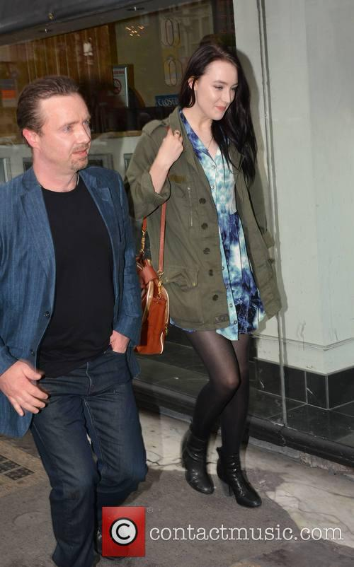 Saoirse Ronan and Father Paul Ronan