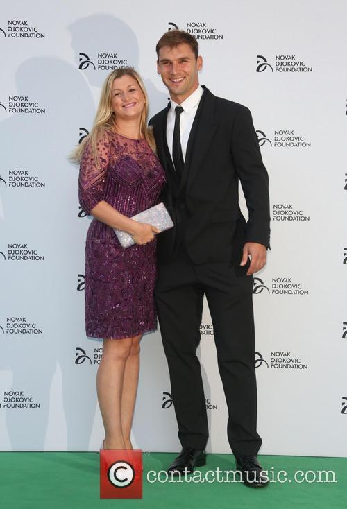 Novak Djokovic, Branislav Ivanovic and Natasha Ivanovic