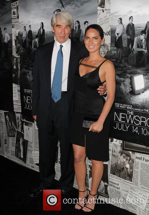 Sam Waterston and Olivia Munn 2