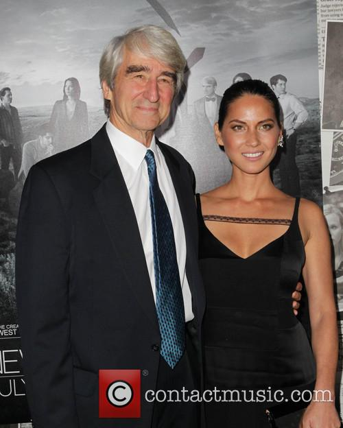 Sam Waterston and Olivia Munn 1