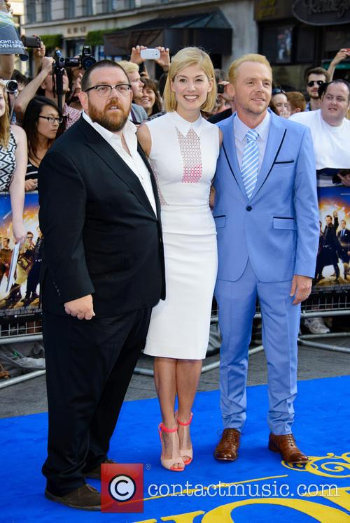 Nick Frost, Rosamund Pike and Simon Pegg 7