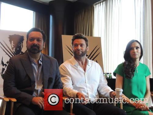 James Mangold, Hugh Jackman and Famke Janssen