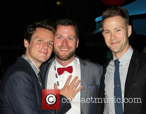 Jonathan Groff, Guido Gotz and Christopher Hanke
