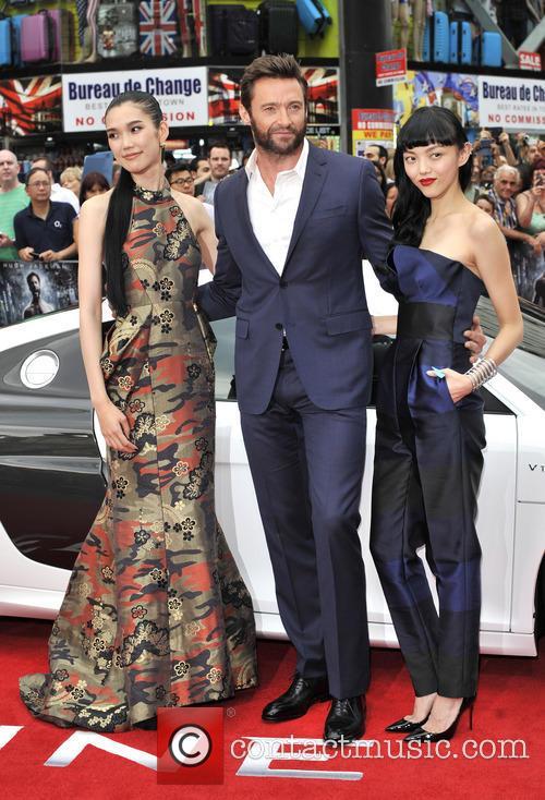 Hugh Jackman, Rila Fukushima and Tao Okamoto 3