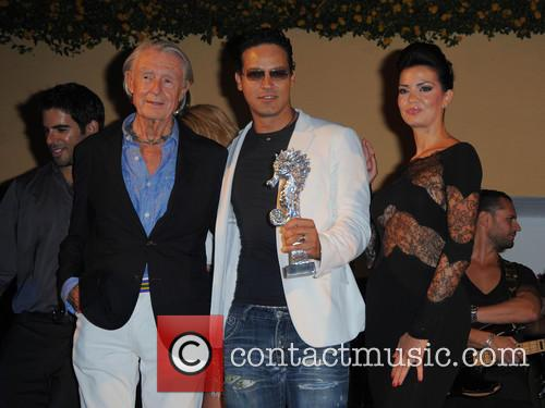 Joel Schumacher, Gabriel Garko and Laura Torrisi