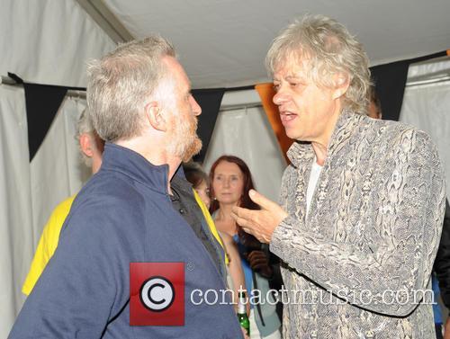 Bob Geldof and Billy Bragg 9