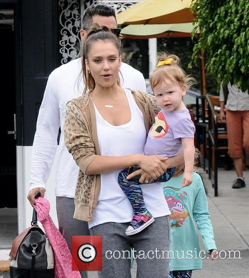 Jessica Alba, Cash Warren, Honor Marie Warren and Haven Garner Warren