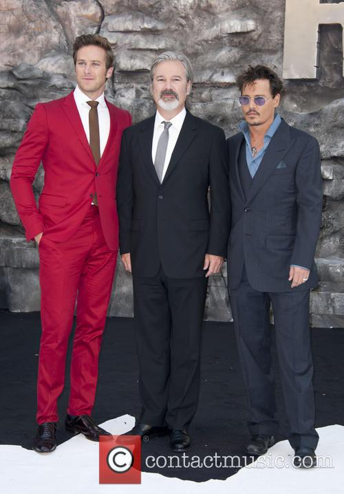 Armie Hammer, Gore Verbinski and Johnny Depp