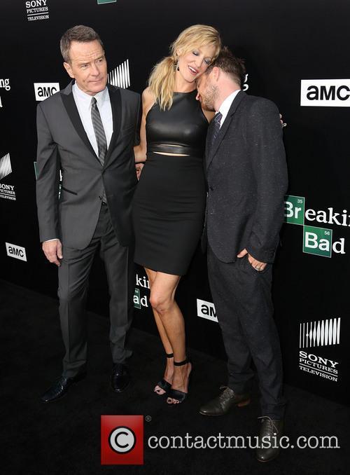 Bryan Cranston, Anna Gunn and Aaron Paul