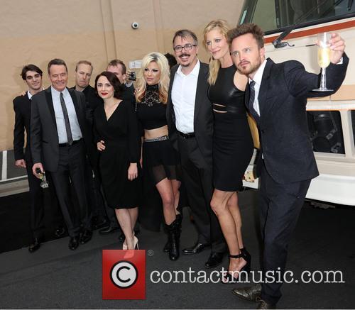 Rj Mitte, Bryan Cranston, Bob Odenkirk, Laura Fraser, Guest, Vince Gilligan, Anna Gunn and Aaron Paul 4