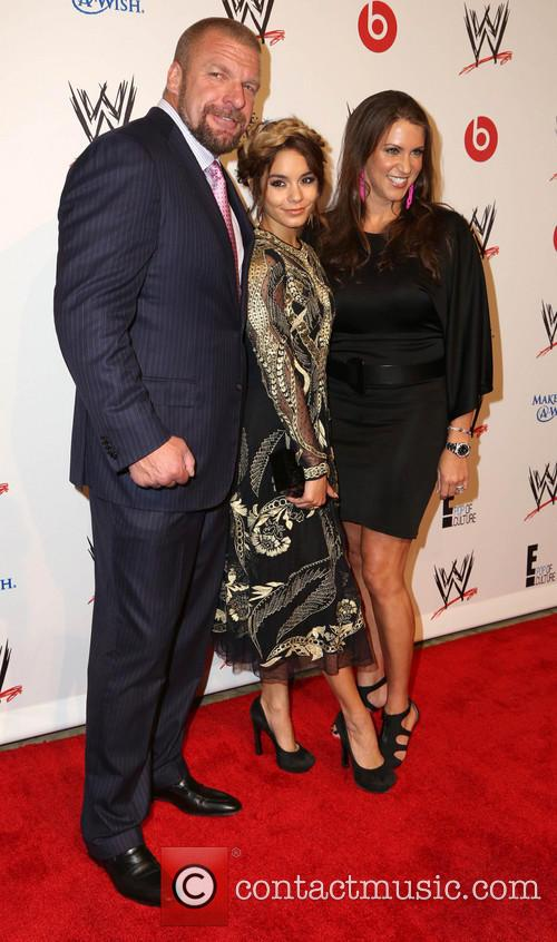 Vanessa Hudgens, Paul Levesque, Triple H and Stephanie Mcmahon