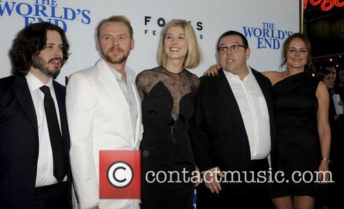 Edgar Wright, Simon Pegg, Rosamond Pike, Nick Frost and Nira Park 3