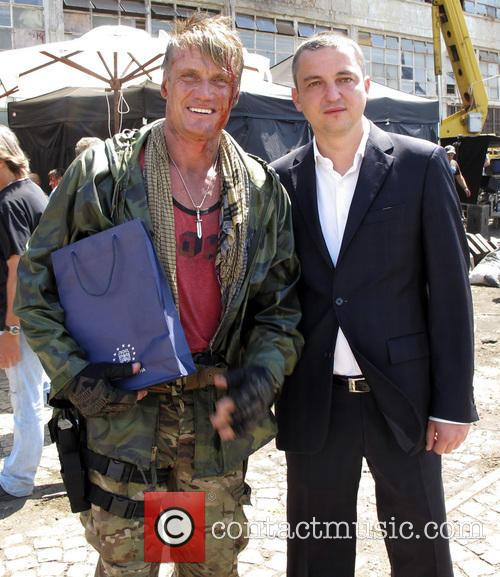 Dolph Lundgren and Ivan Portnih