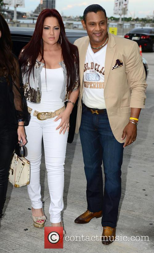 Marc Anthony, Sonia Sosa and Sammy Sosa