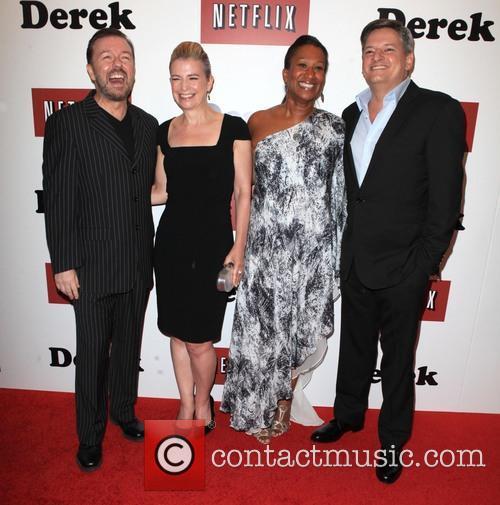 Ricky Gervais, Jane Fallon, Nicole Avant and Ted Sarandos 10