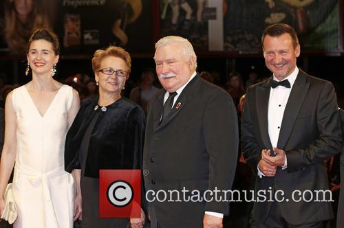 Agnieszka Grochowska, Danuta Walesa, Lech Walesa and Robert Wieckiewicz 1