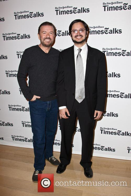 Ricky Gervais and Dave Itzkoff 8