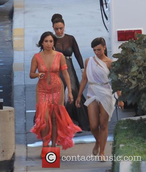 Leah Remini, Cheryl Burke and Karina Smirnoff 8