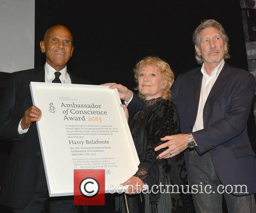 Harry Belafonte, Petula Clark and Roger Waters