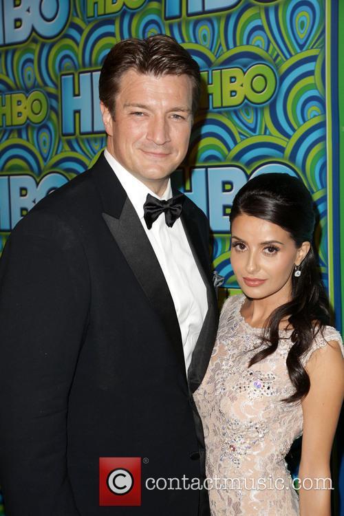 Nathan Fillion and Mikaela Hoover