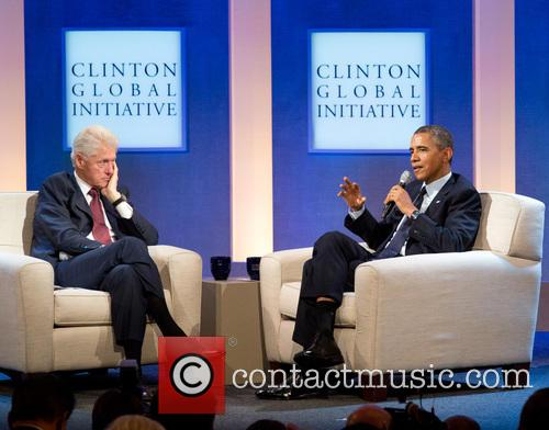 Bill Clinton and President Barack Obama