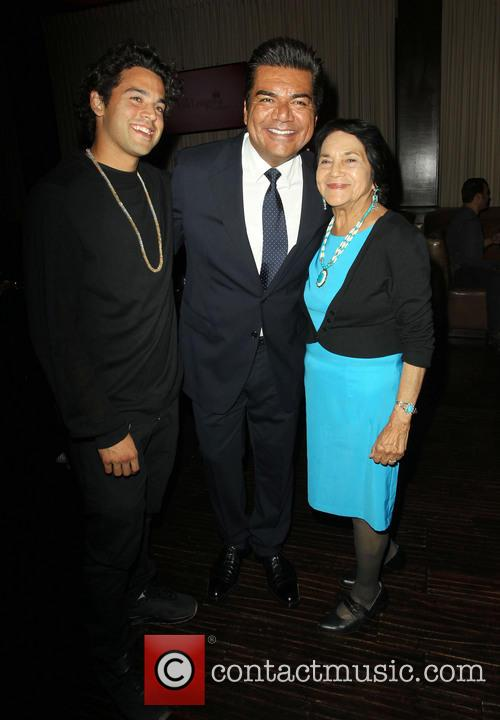 Paul Rodriguez, George Lopez and Dolores Huerta