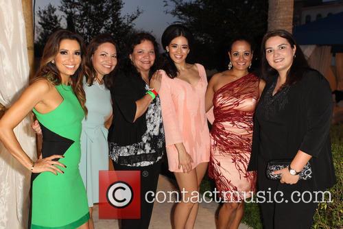 Eva Longoria, Emily Jeannette Longoria, Esmeralda Josephina Longoria, Edy Ganem, Judy Reyes and Guest