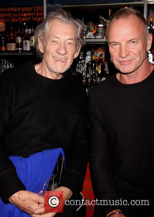 Ian Mckellen, Sting and Gordon Sumner 2
