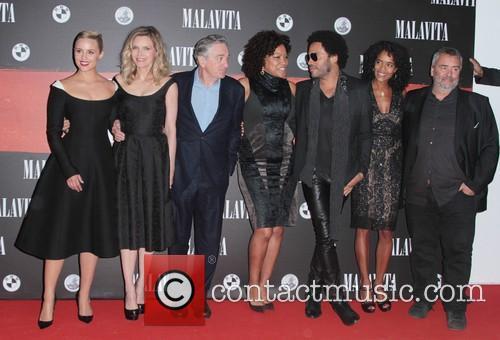 Dianna Agron, Luc Besson, Virginie Silla, Michelle Pfeiffer, Robert De Niro and Lenny Kravitz