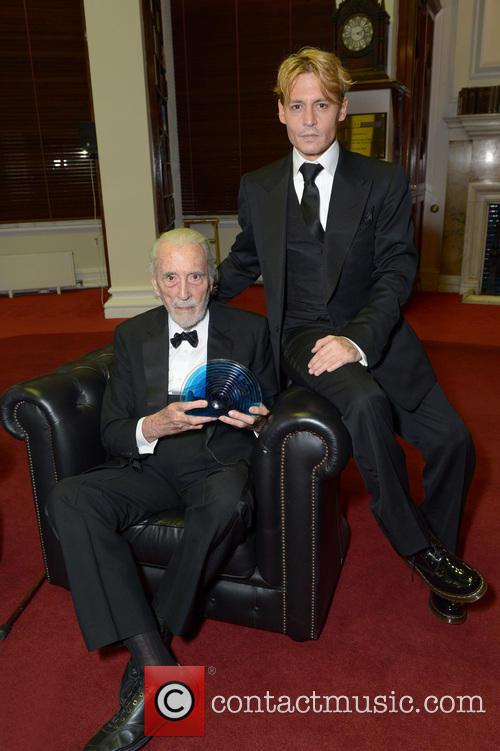 Sir Christopher Lee and Johnny Depp